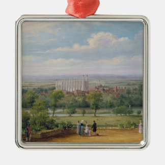 Eton College from the terrace of Windsor Castle Christmas Ornament