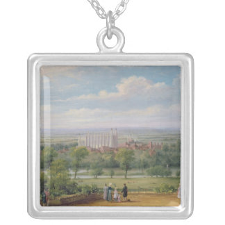 Eton College from the terrace of Windsor Castle Silver Plated Necklace