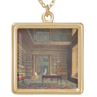 Eton College Library, from 'History of Eton Colleg Gold Plated Necklace