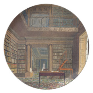 Eton College Library, from 'History of Eton Colleg Plate
