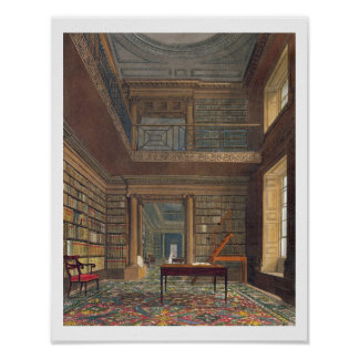 Eton College Library, from 'History of Eton Colleg Poster