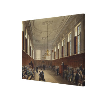 Eton School Room, from 'History of Eton College', Canvas Print