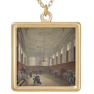 Eton School Room, from 'History of Eton College', Gold Plated Necklace