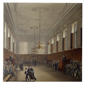 Eton School Room, from 'History of Eton College', Tile