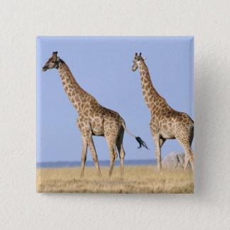 Etosha National Park, Namibia 15 Cm Square Badge