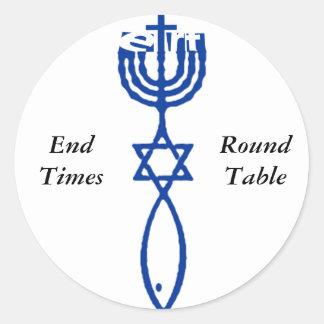 ETRT Menorah Star Ichthys Classic Round Sticker