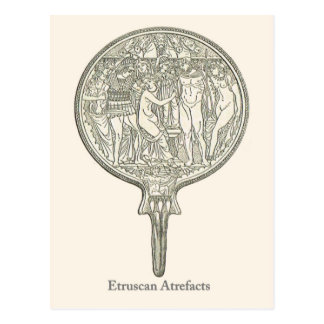 Etruscan Artefacts 4 Postcard