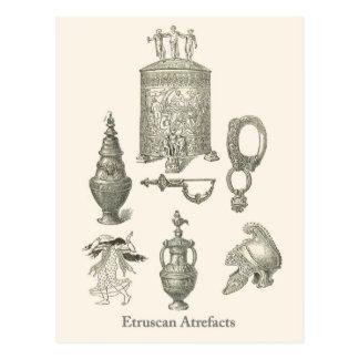 Etruscan Artefacts 6 Postcard