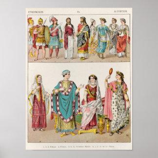 Etruscan Dress Poster