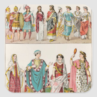 Etruscan Dress Square Sticker