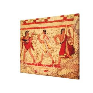 Etruscan musicians canvas print