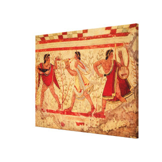 Etruscan musicians gallery wrap canvas