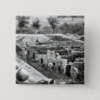 Etruscan Tombs 15 Cm Square Badge