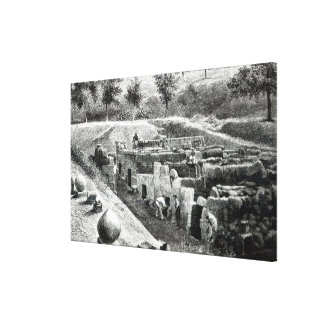 Etruscan Tombs Canvas Print