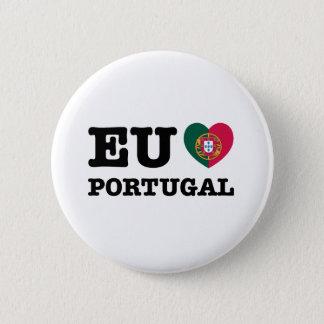 Eu Amo Portugal 6 Cm Round Badge