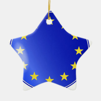 EU Button Christmas Ornament