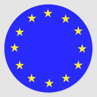EU European flag Classic Round Sticker