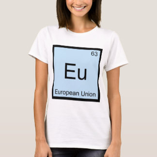 Eu - European Union Chemistry Element Symbol Tee
