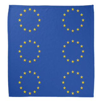 EU European Union flag Bandannas