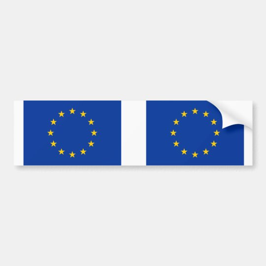 EU European Union flag Bumper Sticker