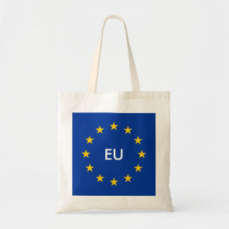EU European Union flag custom budget tote bag
