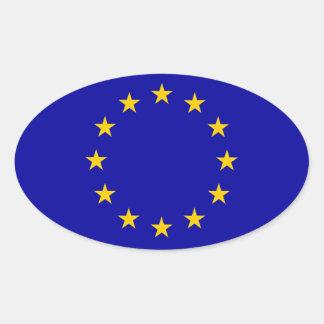 EU European Union Flag Oval Sticker