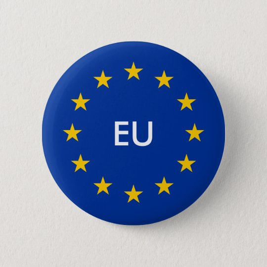 EU flag buttons Custom round European Union badges