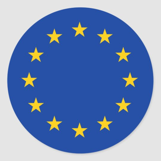 EU flag Classic Round Sticker
