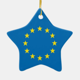 EU flag (European Union) Christmas star decoration