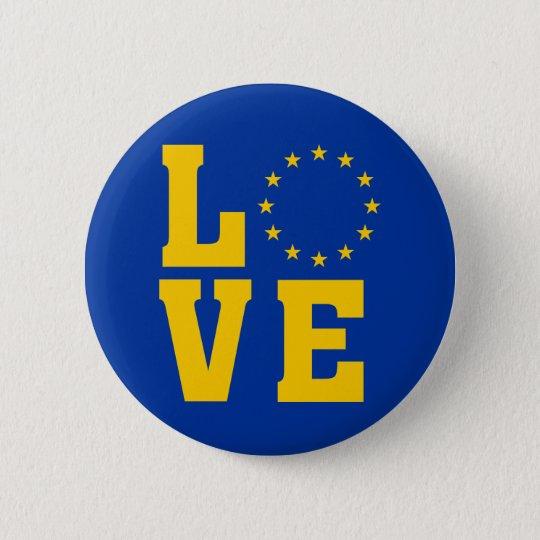 EU Flag, European Union, LOVE 6 Cm Round
