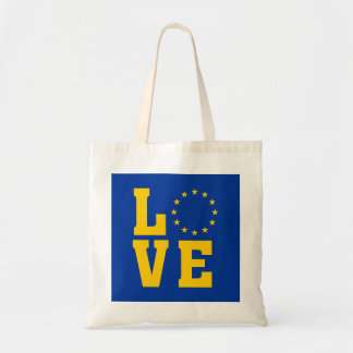 EU Flag, European Union, LOVE Tote bag
