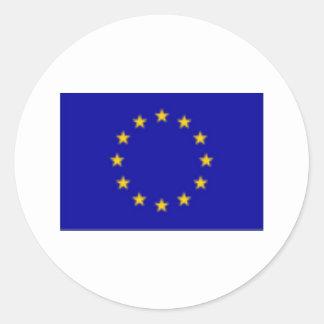 EU Flag Round Sticker