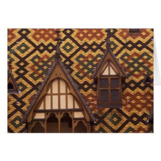 EU, France, Burgundy, Cote d'Or, Beaune. Tiled Card