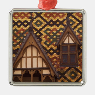 EU, France, Burgundy, Cote d'Or, Beaune. Tiled Christmas Ornament