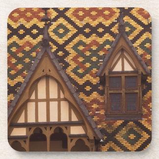 EU, France, Burgundy, Cote d'Or, Beaune. Tiled Drink Coaster