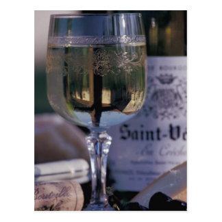 EU, France, Chablis, Local wine Postcard