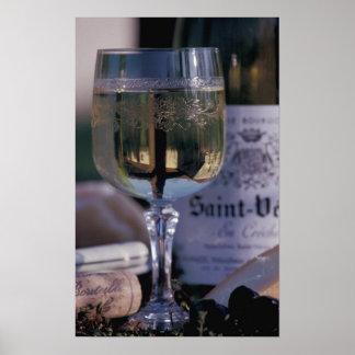 EU, France, Chablis, Local wine Poster