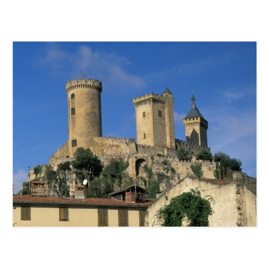 EU, France, Foix, Ariege, Pyrenees. Chateau Postcard