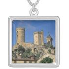 EU, France, Foix, Ariege, Pyrenees. Chateau Silver Plated Necklace