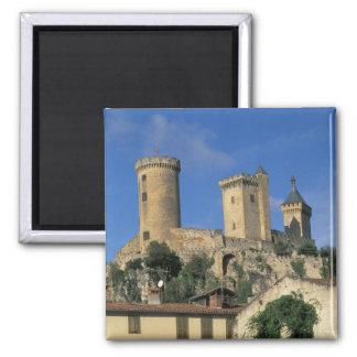 EU, France, Foix, Ariege, Pyrenees. Chateau Square Magnet