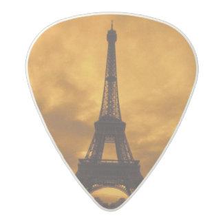 EU, France, Paris.  Eiffel Tower. Acetal Guitar Pick