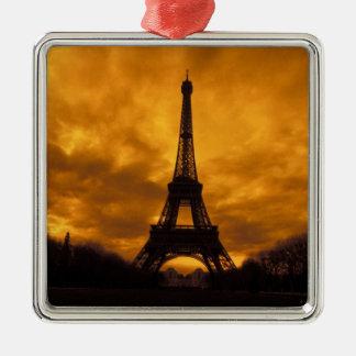 EU, France, Paris.  Eiffel Tower. Christmas Ornament