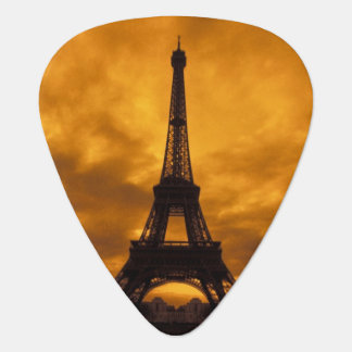 EU, France, Paris.  Eiffel Tower. Guitar Pick