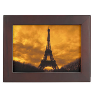 EU, France, Paris.  Eiffel Tower. Keepsake Box