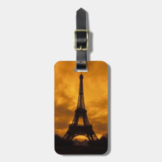 EU, France, Paris.  Eiffel Tower. Luggage Tag