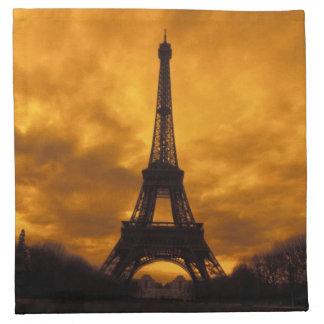 EU, France, Paris.  Eiffel Tower. Napkin