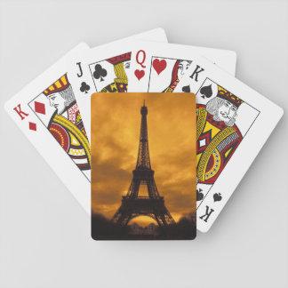 EU, France, Paris.  Eiffel Tower. Playing Cards