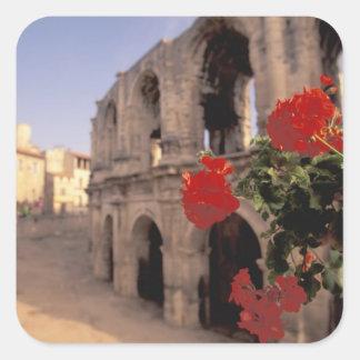 EU, France, Provence, Bouches, du, Rhone, 6 Square Sticker