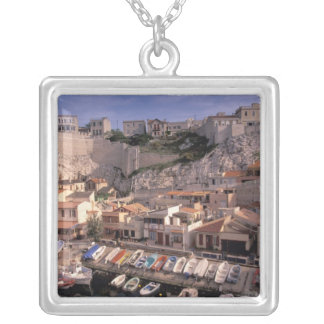 EU, France, Provence, Bouches, du, Rhone, 7 Silver Plated Necklace