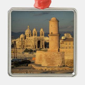 EU, France, Provence, Bouches-du-Rhone, Silver-Colored Square Decoration